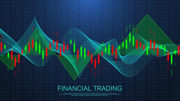 Stock market or forex trading business graph chart for financial investment concept. business presentation for your design and text. economy trends, business idea and technology innovation design.