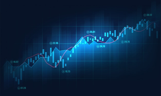 Stock market or forex trading graph background