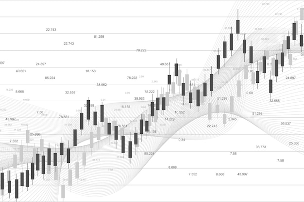 Stock market or forex trading graph chart