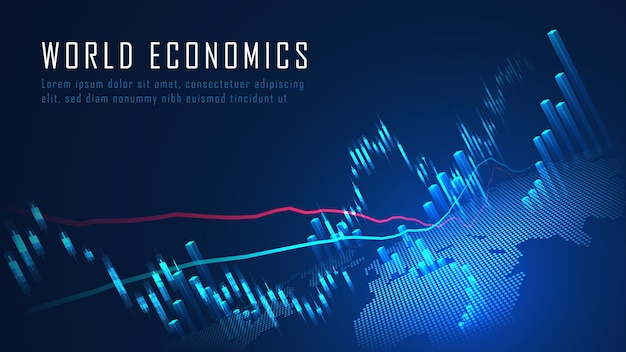 Stock market or forex trading graph in graphic concept suitable for financial investment or economic trends business idea and all art work design. abstract finance background concept