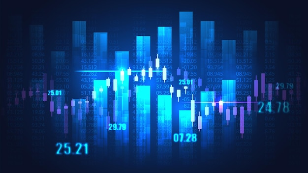 Stock market or forex trading graph in graphic concept suitable for financial investment or economic trends business idea and all art work design.