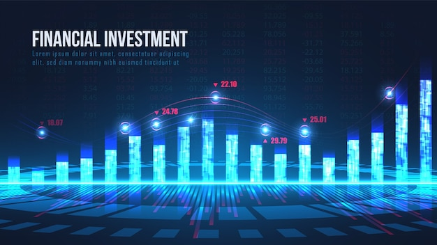 Stock market or forex trading indicators concept