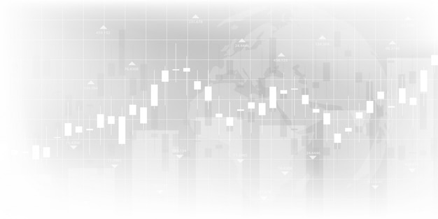 Stock market graph or forex trading chart for business and financial concepts