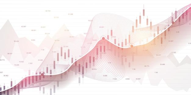 График фондового рынка или график торговли форекс и финансовые концепции.