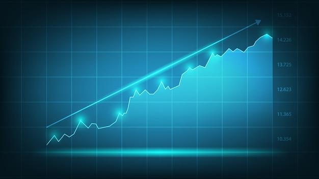 ビジネスと金融の概念の株式市場グラフ取引チャート