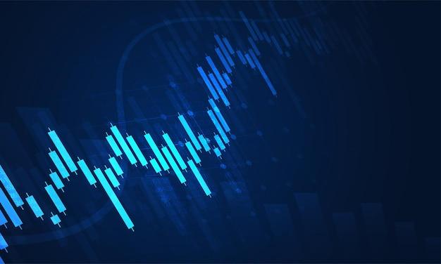 適切なグラフィックコンセプトの株式市場投資取引グラフ。