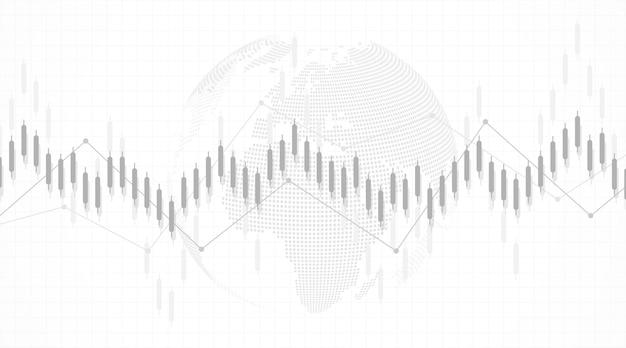 금융 투자 개념에 대한 주식 시장 또는 외환 거래 비즈니스 그래프 차트. 디자인 및 텍스트에 대한 비즈니스 프레젠테이션입니다. 경제 동향, 사업 아이디어 및 기술 혁신 디자인.