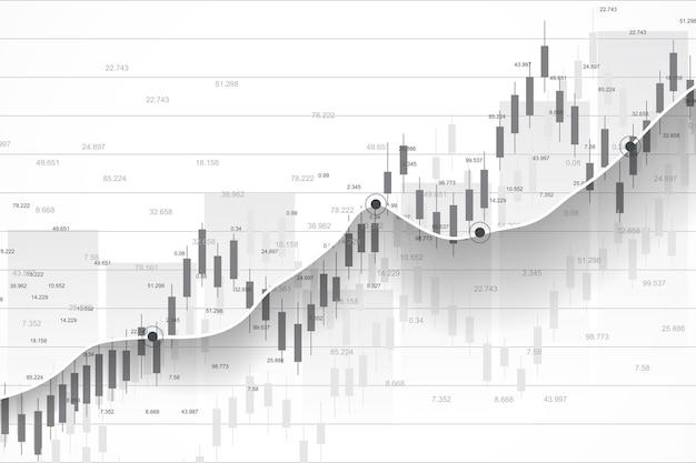 График фондового рынка или форекс, подходящий для концепции финансовых инвестиций
