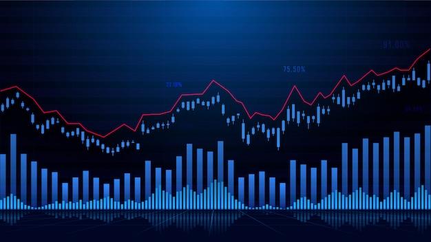주식 시장 또는 외환 거래 그래프