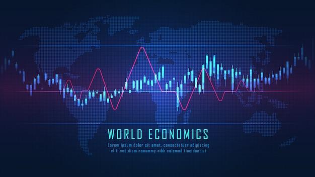 株式市場または外国為替取引のグラフ