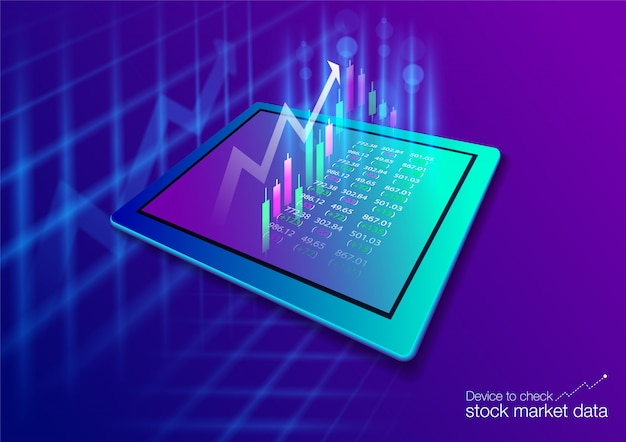 The stock market on the touch screen