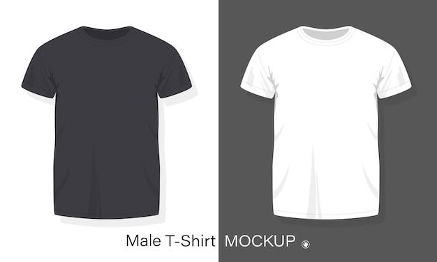 Stock men's t-shirt design template flat style