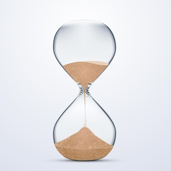 Запас стекла sand hour, изолированные на белом фоне. реалистичный стиль иллюстрации