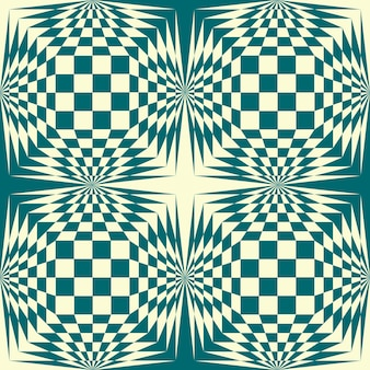 스톡 벡터 배경입니다. 체스 녹색 색상 그림 기하학적 패턴입니다.