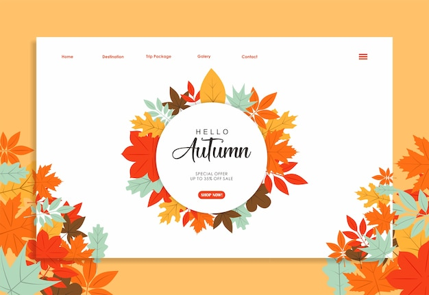 Stock vector landing page design
