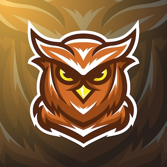 Stock vector owl mascot logo illustration