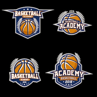 Stock vector set professional basketball logo