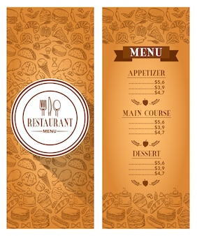 Stock vector template restaurant menu