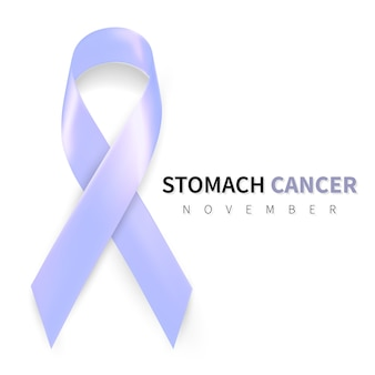 Stomach cancer awareness month. realistic periwinkle ribbon symbol.