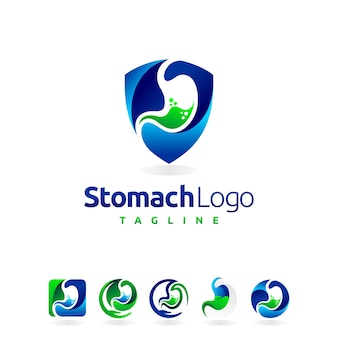 Stomach logo set with multiple shape