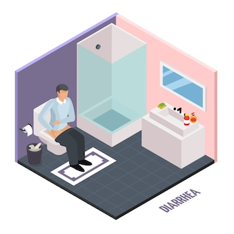 Stomach upset isometric composition