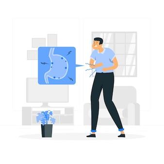 Stomachache concept illustration