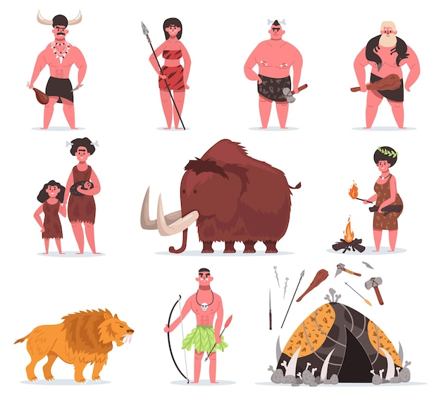 Stone age characters