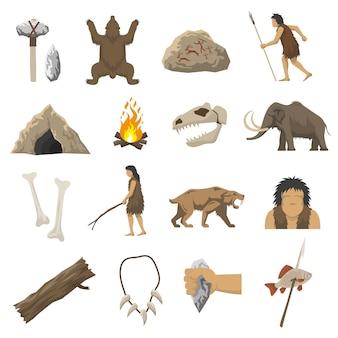 Stone age icons