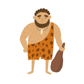 Stone age primitive man