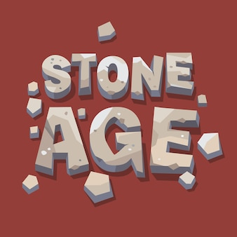 Stone age writing. 3d letters