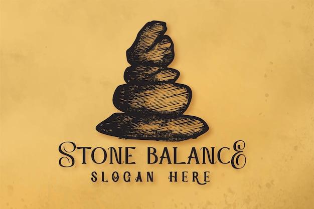 Stone balance, yoga logo design inspiration