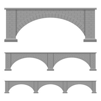 Stone bridge  design illustration isolated on white background