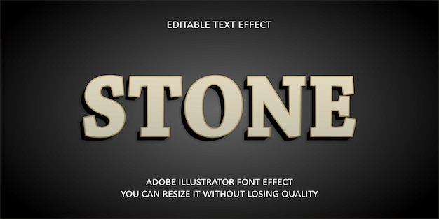 Stone editable text effect