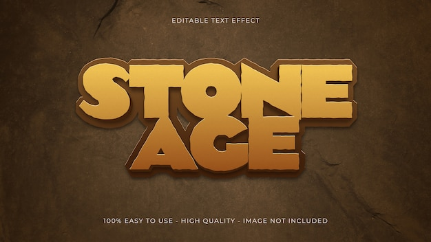 Stone forest text effect concept