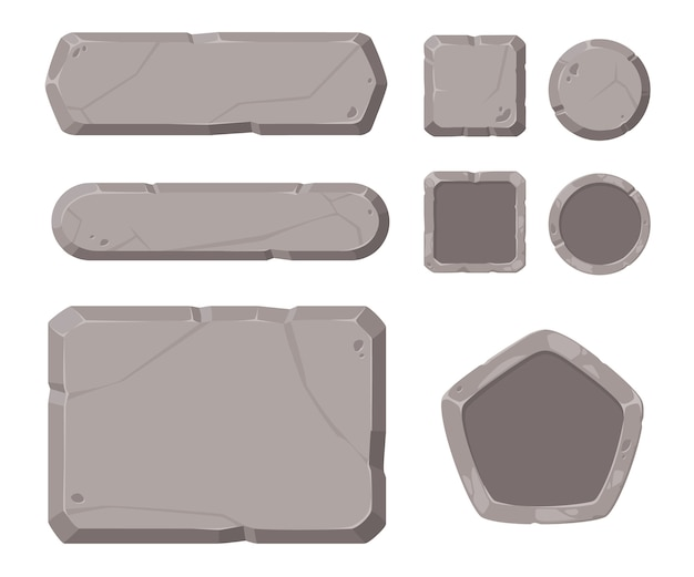 Stone gui for game.