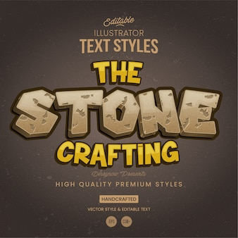 Stone & rock text style