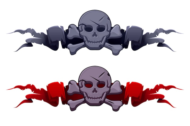 Stone skull on the award ribbons for the game ui