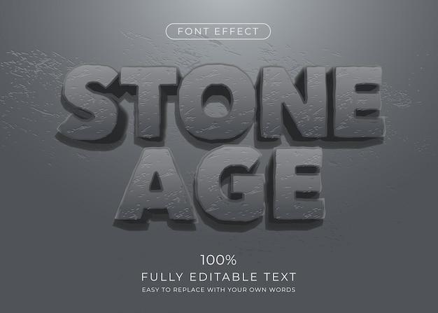 Текстовый эффект камня, редактируемый стиль шрифта с текстурой камня