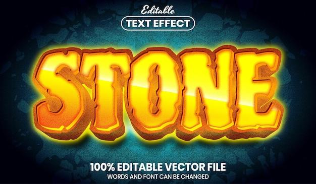Каменный текст, редактируемый текстовый эффект в стиле шрифта