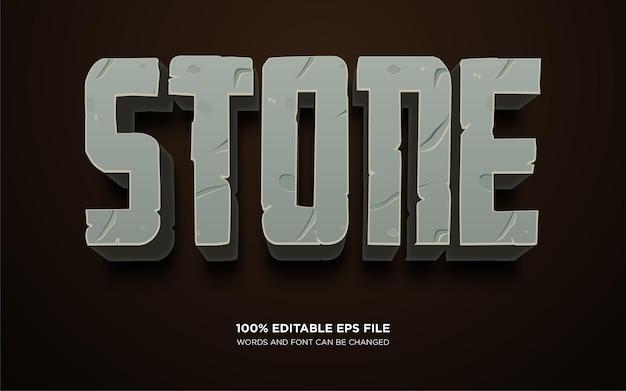 石のテキストスタイルの効果