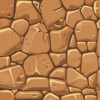 Stone texture in brown colors seamless pattern background.