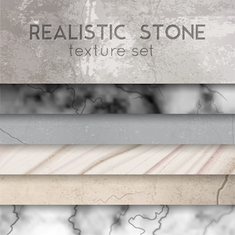 Stone texture samples realistic set