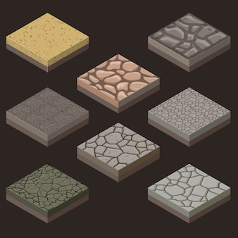 Набор каменных плиток