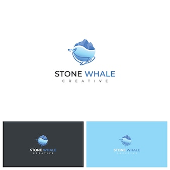 The stone whale logo design inspiration