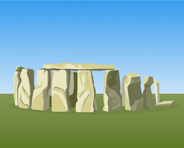 Stonehenge famous prehistoric monument consists of ring standing stones