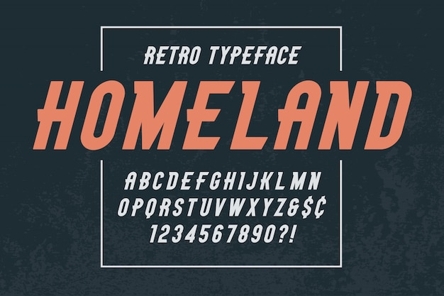 Stonepark trendy vintage display font design