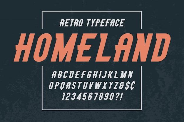 Модный винтажный дизайн шрифта stonepark