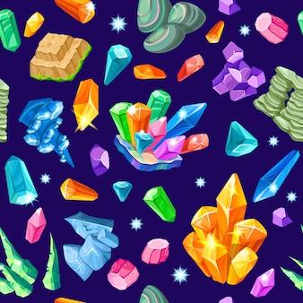 Stones decoration isometric seamless pattern