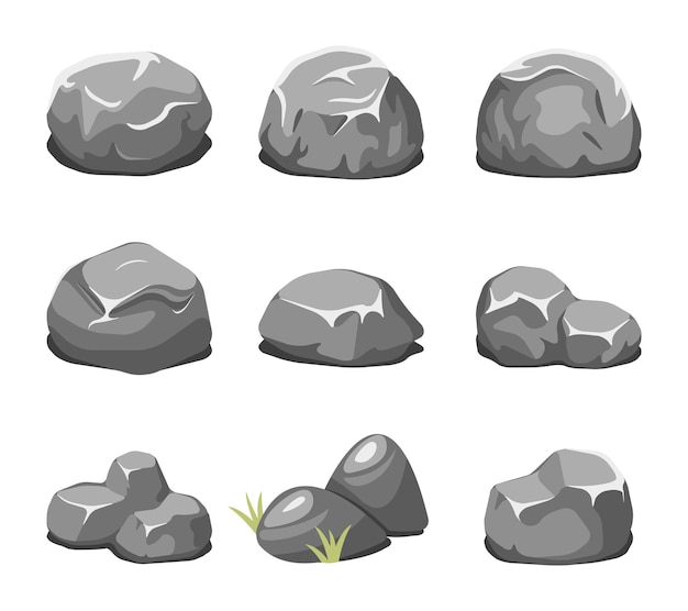 Stones and rocks cartoon