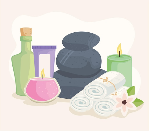 Stones and spa icons